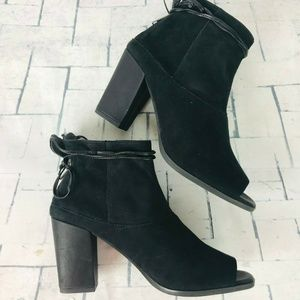 Seychelles Suede Leather Open Toe Ankle Boots